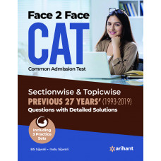 Face To Face CAT book with solved papers (Arihant Publication) 2020
