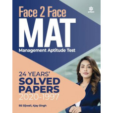 Face to Face Mat with 23 Years Solved Papers 2021 Mat Book for MBA