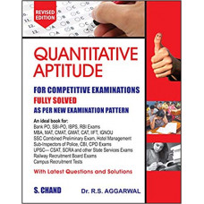 Quantitative Aptitude for Competitive Examinations Paperback 21 (New edition 2020)