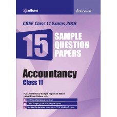 CBSE 15 Sample Paper ACCOUNTANCY for class 11th
